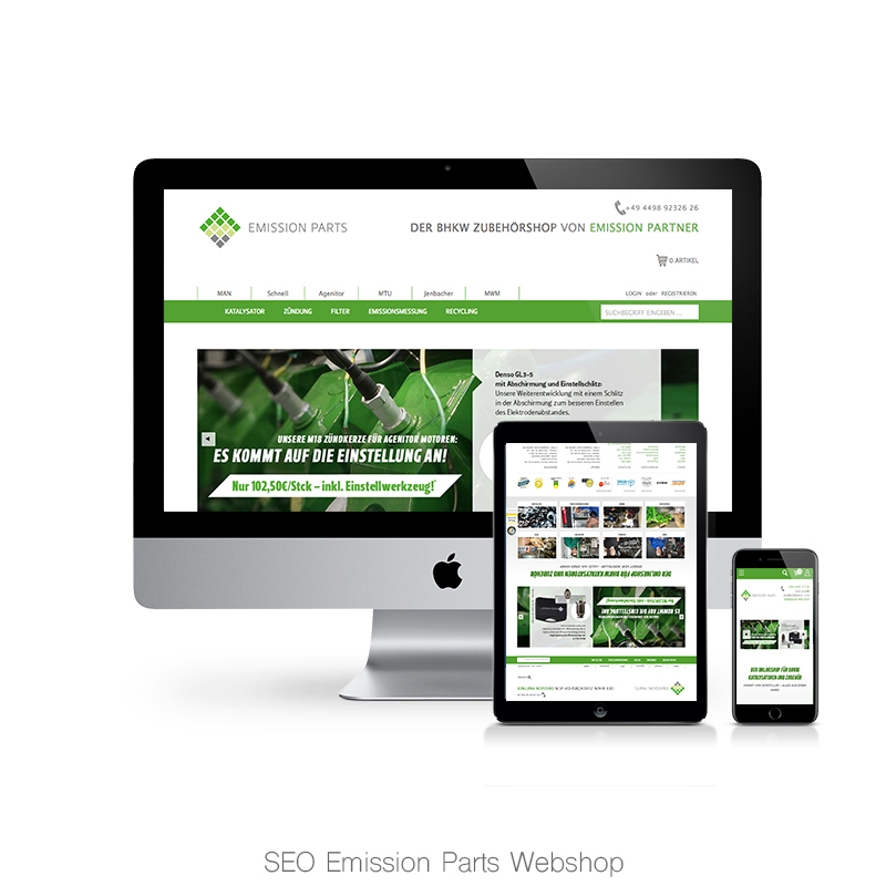 SEO Emission-Parts Webshop