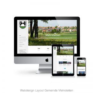 Webdesign Gemeinde Mehrstetten